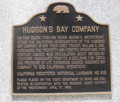 Hudson's Bay Company Marker image. Click for full size.