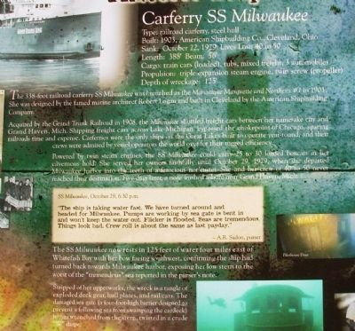 Carferry SS Milwaukee Marker image. Click for full size.
