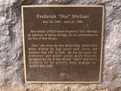 "Frederick ""Doc"" Mirliani Marker image. Click for full size."