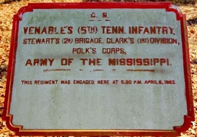 5th Tennessee Infantry Marker image. Click for full size.