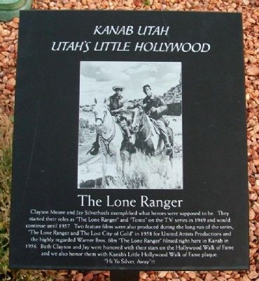 The Lone Ranger Marker image. Click for full size.