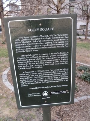 Foley Square Marker image. Click for full size.