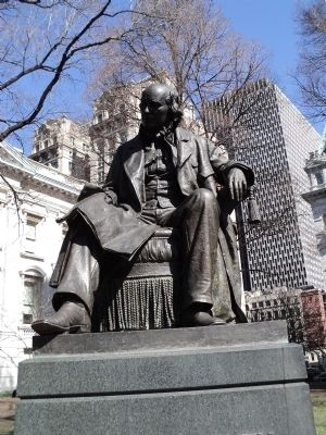 Horace Greeley Statue image. Click for full size.