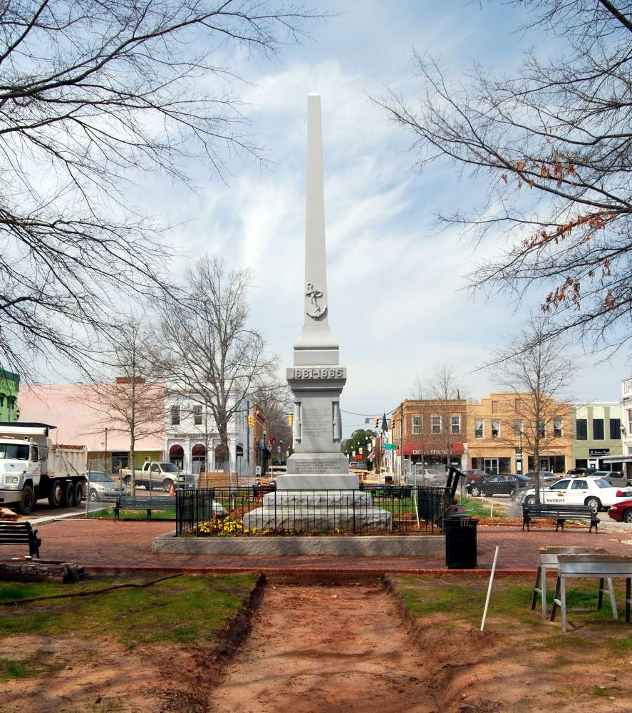 Abbeville County Confederate Monument -<br>During 2010 CityScape Renovation