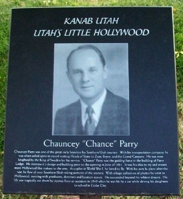"Chauncey ""Chance"" Parry Marker image. Click for full size."