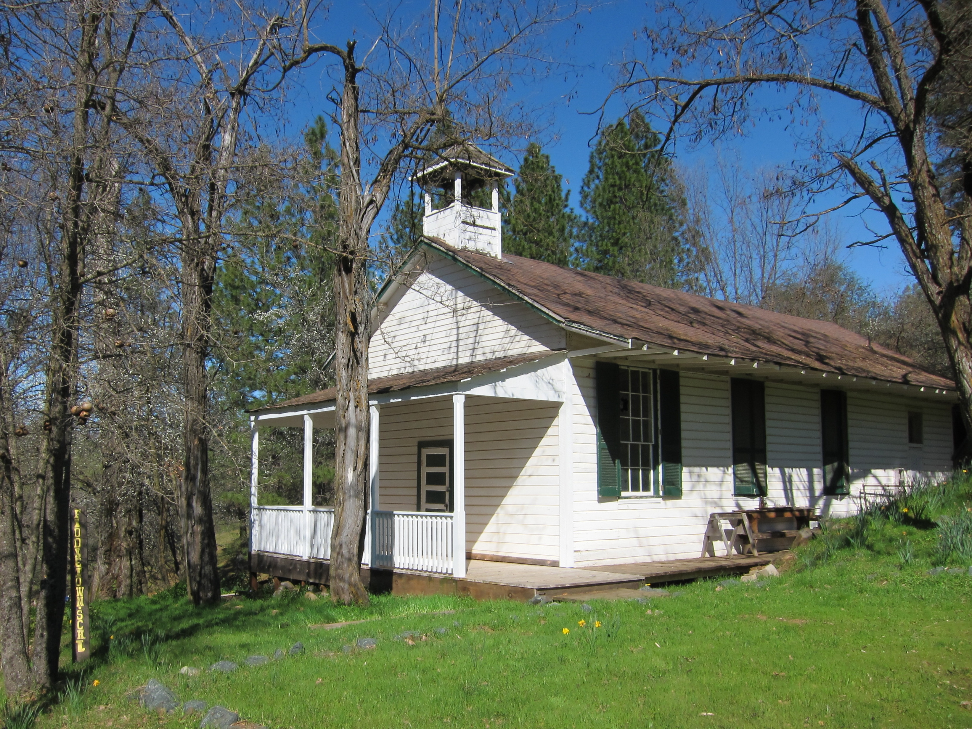 Oleta Schoolhouse, on American Flat Road