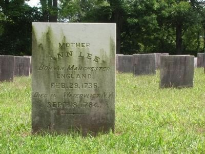 Final Resting Place of Mother Ann Lee image. Click for full size.