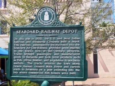 Seaboard Railway Depot Marker image. Click for full size.