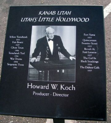 Howard W. Koch Marker image. Click for full size.