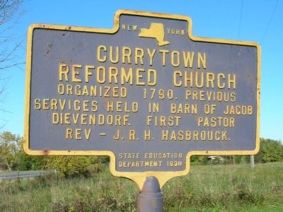 Currytown Reformed Church Marker image. Click for full size.