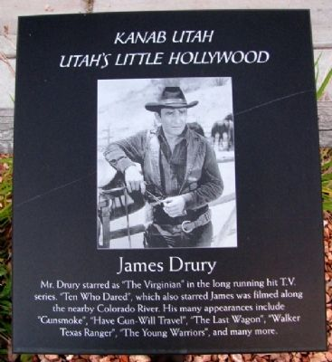 James Drury Marker image. Click for full size.