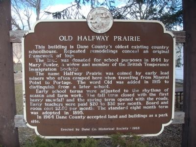 Old Halfway Prairie Marker image. Click for full size.