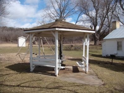 Water Pump Gazebo at Old Halfway Prairie School image. Click for full size.