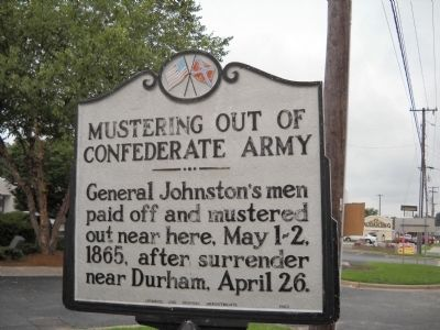 Mustering out of Confederate Army Marker image. Click for full size.