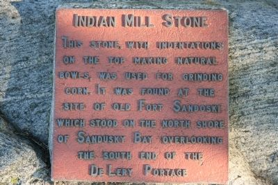 Indian Mill Stone Marker image. Click for full size.