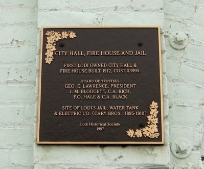 City Hall, Fire House and Jail Marker image. Click for full size.