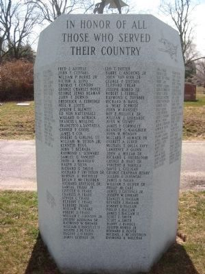 Fairview Cemetery Veterans Monument - Panel 1 image. Click for full size.