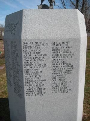 Fairview Cemetery Veterans Monument - Panel 5 image. Click for full size.