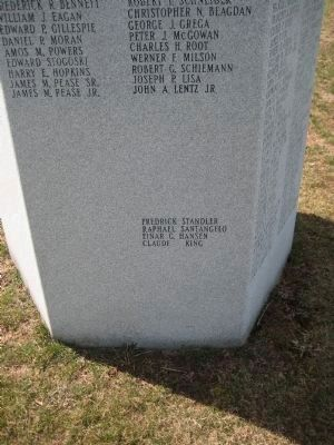 Fairview Cemetery Veterans Monument - Panel 6 image. Click for full size.