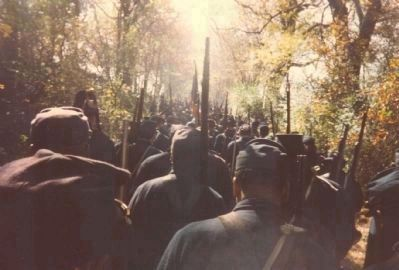 Marching to the re-enactment - in the countryside, outside of Nashville image. Click for full size.