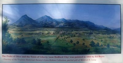 The Peaks of Otter and the Town of Liberty image. Click for full size.