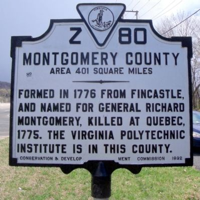 Montgomery County Marker (obverse) image. Click for full size.
