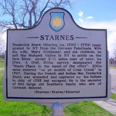 Starnes Marker (side b) image. Click for full size.