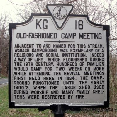 Old-Fashioned Camp Meeting Marker image. Click for full size.