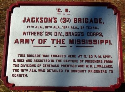 Jackson's Brigade Marker image. Click for full size.