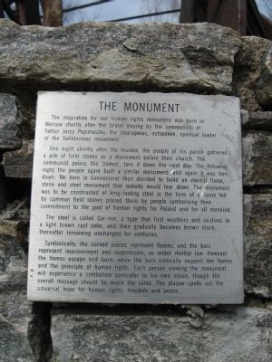 Small Plaque on the Base of the Monument image. Click for full size.