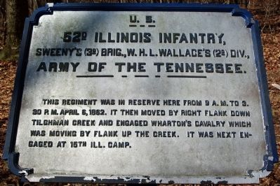 52nd Illinois Infantry Marker image. Click for full size.