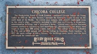 Chicora College Marker image. Click for full size.