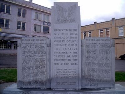 Montgomery County War Memorial (front) image. Click for full size.