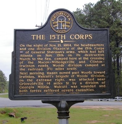 The 15th Corps Marker image. Click for full size.
