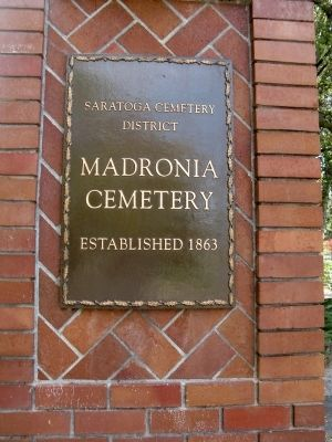 History of Madronia Cemetery image. Click for full size.