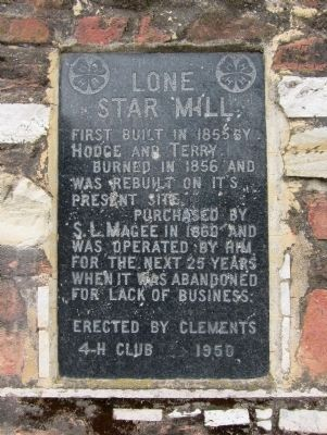 Lone Star Mill Marker image. Click for full size.