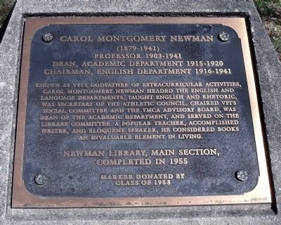 Carol Montgomery Newman Marker image. Click for full size.