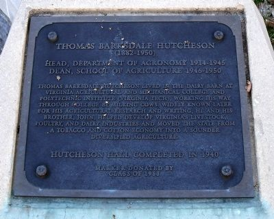 Thomas Barksdale Hutcheson Marker image. Click for full size.