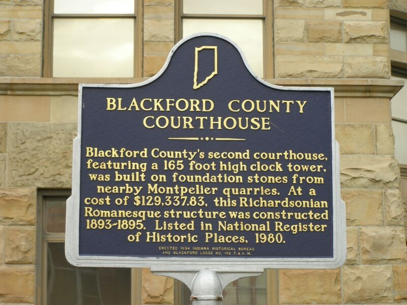 Blackford County Courthouse Marker