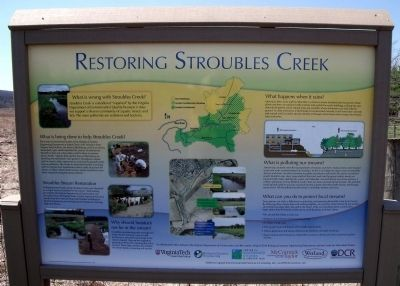 Restoring Stroubles Creek Marker image. Click for full size.