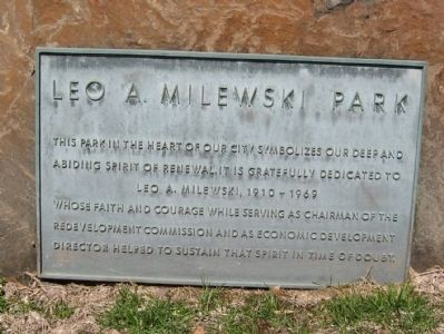 Leo A. Milewski Park Marker image. Click for full size.