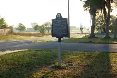 Zephyrhills Railroad Depot Marker seen looking east along South Avenue image. Click for full size.