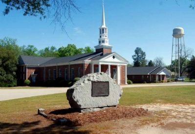 Michael Watson Marker -<br>Ridge Spring Baptist Church in Background image. Click for full size.