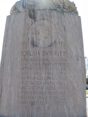 To Elihu Burritt Monument image. Click for full size.