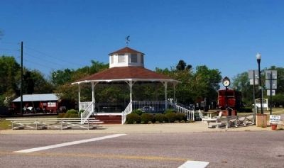 Ridge Spring&#39;s Town Gazebo -<br>Located at the Intersection of<br>S.C. Hwys 23 and 392 image. Click for full size.