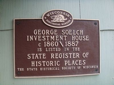 George Soelch Investment House Marker image. Click for full size.