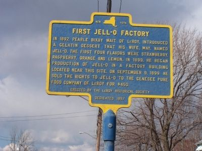 First Jell-O Factory Marker image. Click for full size.