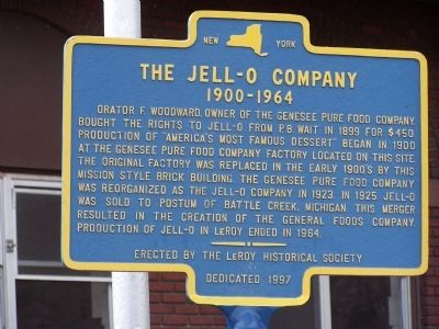 The Jell - O Company Marker image. Click for full size.