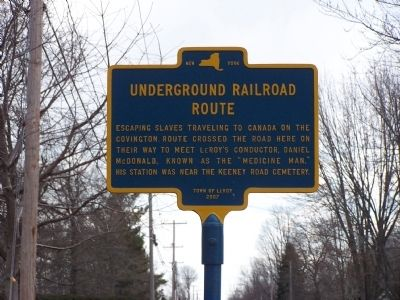 Underground Railroad Route Marker image. Click for full size.