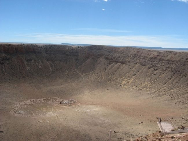 Barringer Meteor Crater image. Click for full size.